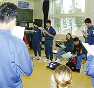We sang a song with the Japanese students. It was pretty funny!